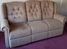 HSL Hampton Relax 3 Seater Sofa - Boucle Cocoa