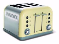 Morphy Richards Accents 4 Slice Wide Slot Toaster Cream, Brand New in Box