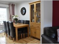 OAK Dining Room Furniture, Table with 6 Chairs, Side Cabinet and a Nest of Tables