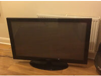 "Samsung plasma HD television 50"" with remote, available now"