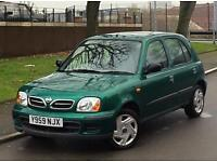 2001 Nissan Micra SE 16v 1348cc 5dr 1 Lady Owner Very Low Mileage Full Service History 2 Keys
