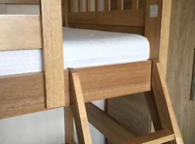 Triple solid pine bunk beds
