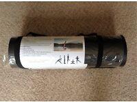 BLACK YOGA MAT with Shoulder Strap (NEW)
