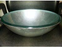Round Glass Wash Basin 420x420x145mm