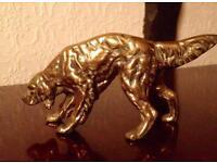 Brass statue of Setter Dog