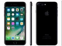 iPhone 7 plus jet black 258gb