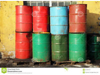Buy selling used empty oil drum barrels can cut and can deliver.