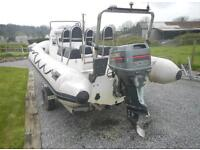 5.5 rib -100hp outboard- trailer