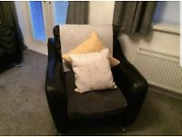 4 seater fabric sofa and chair