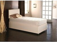 Orthopaedic Single Divan Bed BRANDNEW 24cm M-Firm Mattress (Headboard/Drawer Options) Fast Delivery