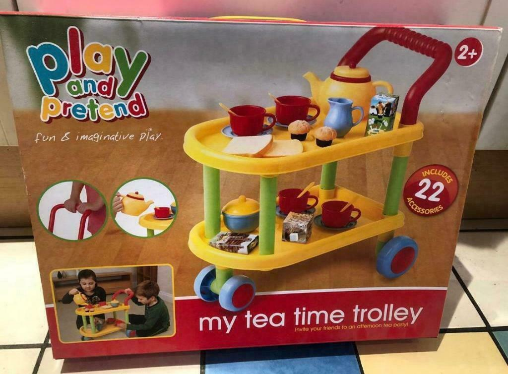 Play /& Pretend Tea Time Trolley 22 Piece  Toy Playset /& Accessories