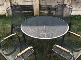 Modern good quality iron table and four chairs