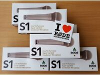 6x RODE S1 microphones NEW WITH WARRANTY champagne gold RRP £1500