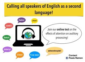 Calling all speakers of English as a second language!