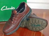 Clarks Leather Shoes - Brown