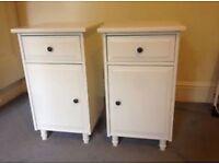 2x Ikea set of hemnes bedside drawers