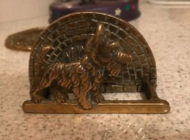 Brass? Westie Dog Letter Rack
