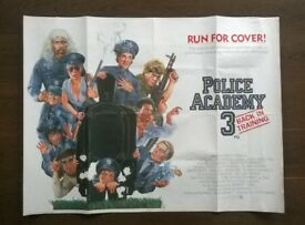 police academy 3 ' ( art work by ' drew ' ) original cinema poster