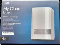 NEW SEALED WD 4TB My Cloud Mirror Personal Network Attached Storage - NAS