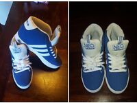 Brand New Blue Adidas Trainers