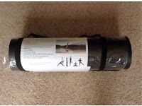 BLACK YOGA MAT Extra Thick 15mm (missing it's shoulder carrying strap)