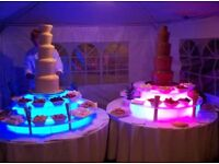 """2x Sephra 44"""" 5 Tiers Commercial Chocolate Fountains + Lots of Extras!!! New Business Set Up"""