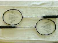 Two Carlton Kinesis X90 Xtreme Badminton Rackets with full Covers