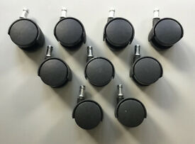 Desk Chair Wheels Castors Black and Grey