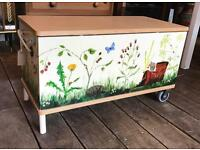 Hand Painted Trunk / Toy Box