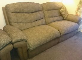 3 Seater + 2 Seater Reclining Sofa's