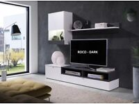 Brand new tv stand wall unit set of 3 pieces only £75