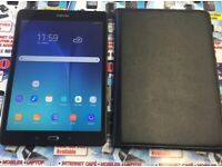 Samsun Galaxy TAB A6 2016 SM-T585 16GB BLACK 10.1 UNLOCKED, 4G with book case & usb charger