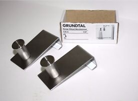 """2 x Over door hooks NEW - 2 cm or 3/4"""" - Grundtal Ikea - coat hangers"""