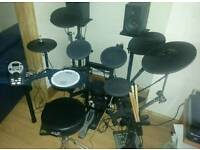 Roland Electronic Drum Kit Inc Ride Cymbal and Accessories.