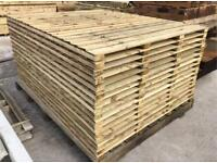 🥇 STRAIGHT TOP PRESSURE TREATED WOODEN GARDEN FENCE PANELS