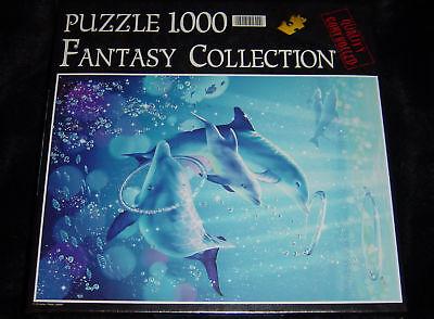 1000 tlg.Clementoni Fantasy Puzzle Dolphin Symphony,NEU Dolphin Papier
