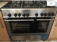 Kenwood cooker, 90cm 6 burner large over electric & gas cooker can be used for LPG