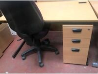 Budget Straight Desk with under pedestal, Like New