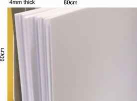 COREX CORRUGATED PLASTIC SHEET 4mm thick, 80cm x 60cm PACK OF 6