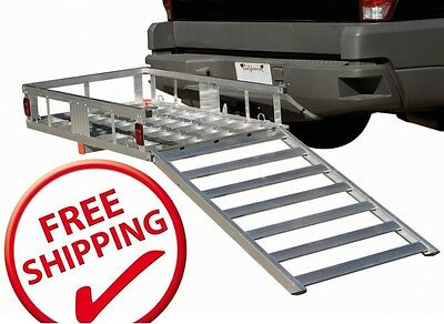 WHEELCHAIR SCOOTER MOBILITY 500 LB ALUMINUM CARRIER DETACHABLE RAMP FREE SHIP!!