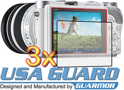 3x Clear LCD Screen Protector Guard Cover Shield Film for Samsung NX300 NX300M