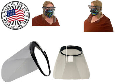 5 Pack Clear Face Shield Protector Headgear Made In The Usa