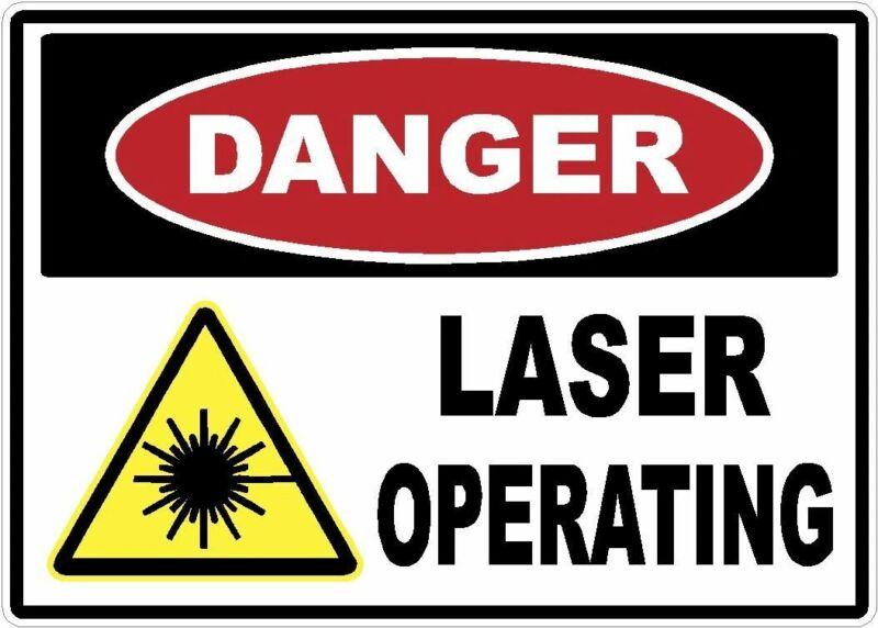 Danger Laser Operating Decal Sticker (1, 10 x 7)