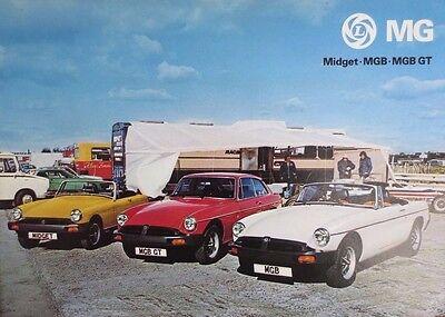 MG RANGE BROCHURE  1977