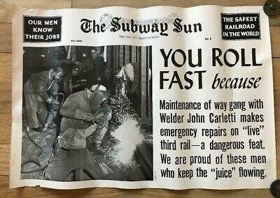 NY Subway Subway Sun Ad 23 No 8 Our Men Know Their Jobs Maintenance of Way