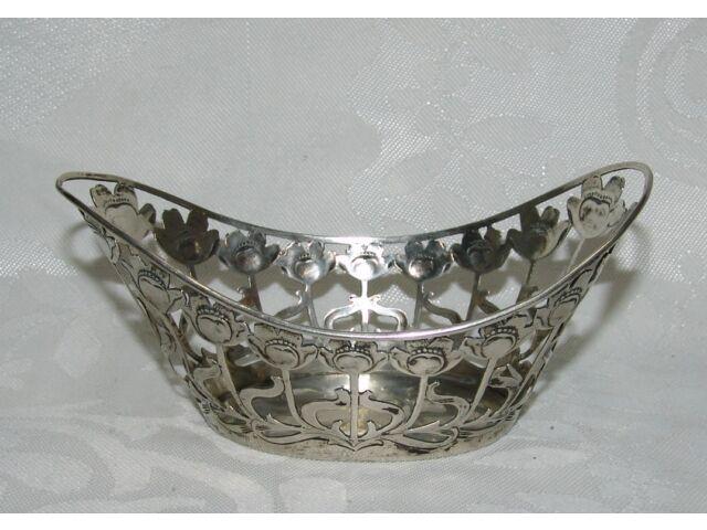 Antique Silver 800 Depose Germany Dish Bowl Basket German Martin Mayer