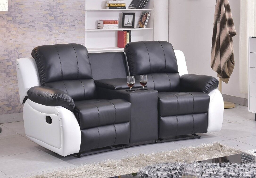 ledersofa kinosofa relaxcouch fernsehsofa recliner heimkino 5129 cup 2 sw eur 949 00 picclick de. Black Bedroom Furniture Sets. Home Design Ideas