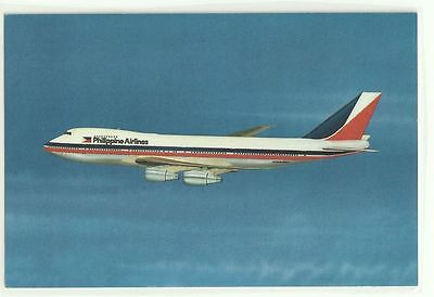 Color Philippine Air Lines Boeing 747 Aircraft Airlines Airplane Postcard Pc Nos