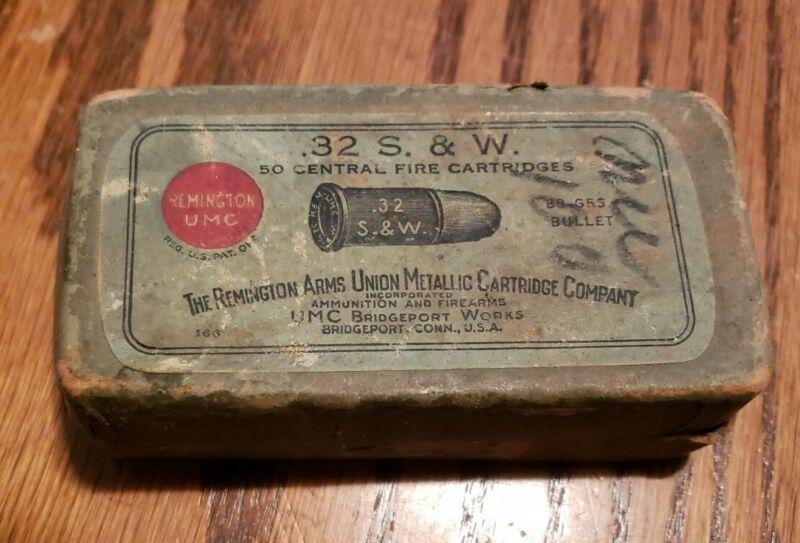 ANTIQUE Remington UMC Ammo Box .32 S&W