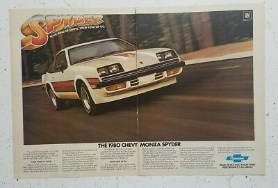 1980 Chevy Monza Spyder Your Kind Of Show Your Kind Of Go 2 Page Ad